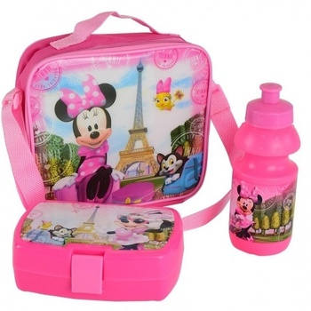 Disney Minnie Mouse schoudertas met broodtrommel en bidon