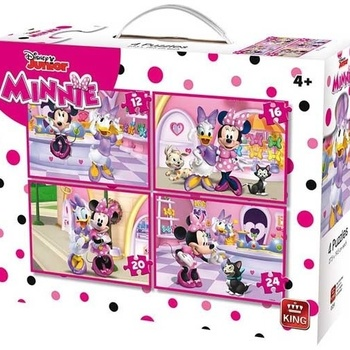 King legpuzzel 4-in-1 Disney Mini Mouse Bow-Tique